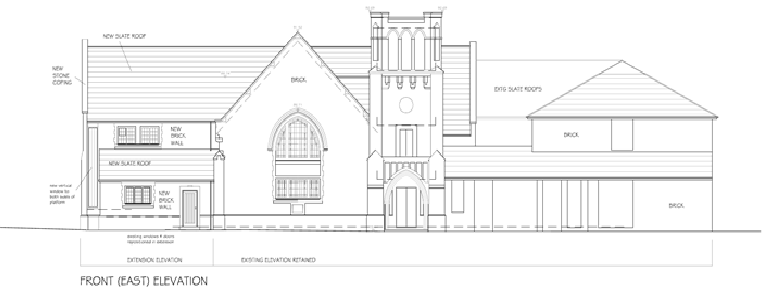 Church Elevation Plan : Stanborough park church development plans